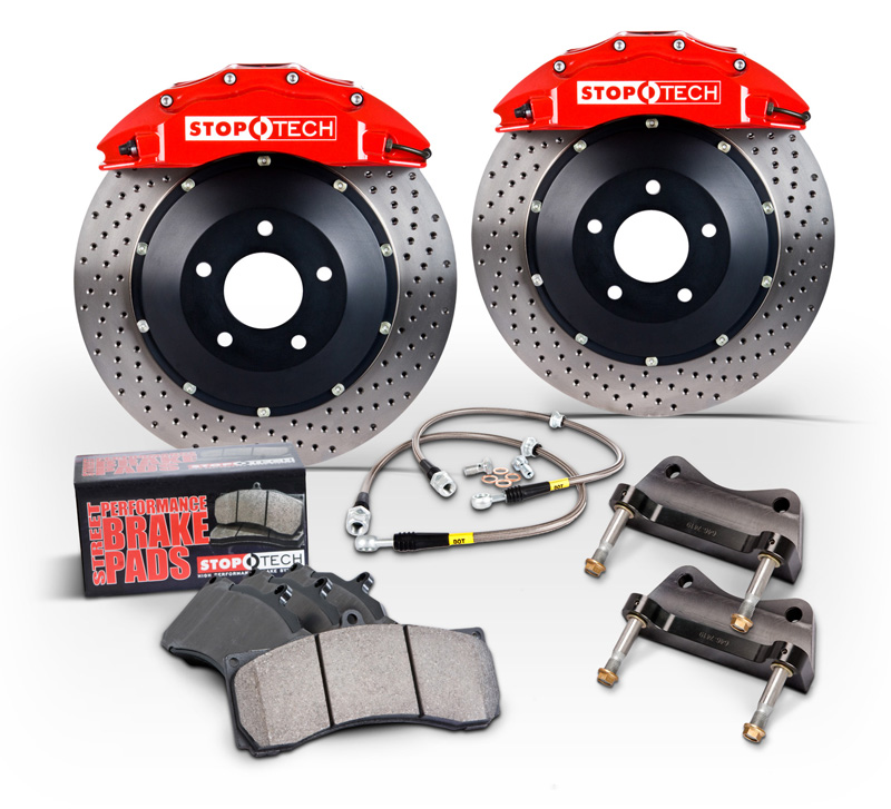 2002 2003 For Audi S6 w//1 PistonCaliper Coated Drilled Slotted Front Rotors